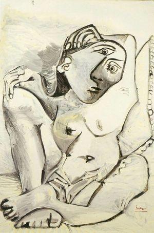 Jacqueline à l'oreiller, 1969
