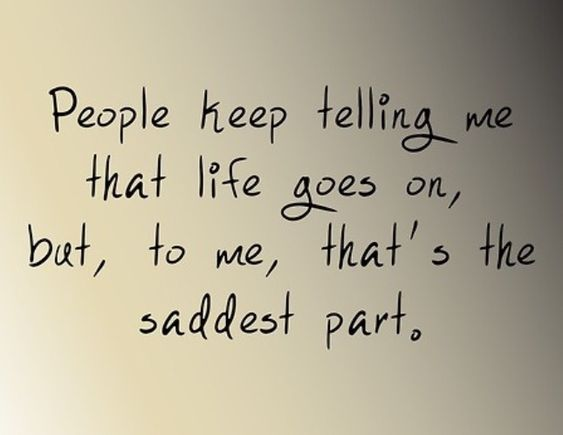 People say more than they should. Don't think you can just walk into my life the moment something tragic happens.