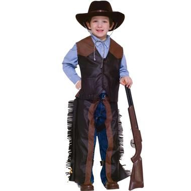 "Mommas don't let your babies grow up to be cowboys."""" But, you might just want to when you see how cute your little guy looks in this costume. The Dress-Up Cowboy costume includes a brown cowboy hat,"