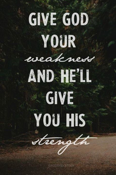 Let God give you his strength to help you keep fighting your MS! Never give up the fight for a cure!