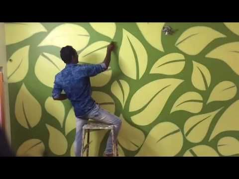 How To Stencil For Wall Design Ideas Masking Tape Youtube Painting Textured Walls Tape Wall Art Wall Paint Designs
