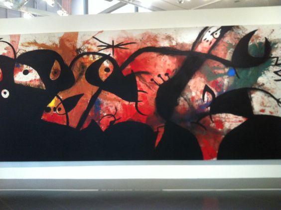 """Oiseaux dans la nuit (1974) de Joan Miro. Centre Pompidou-Metz. Exposition """"Phares"""". www.fondationsolangebertrand.org"""