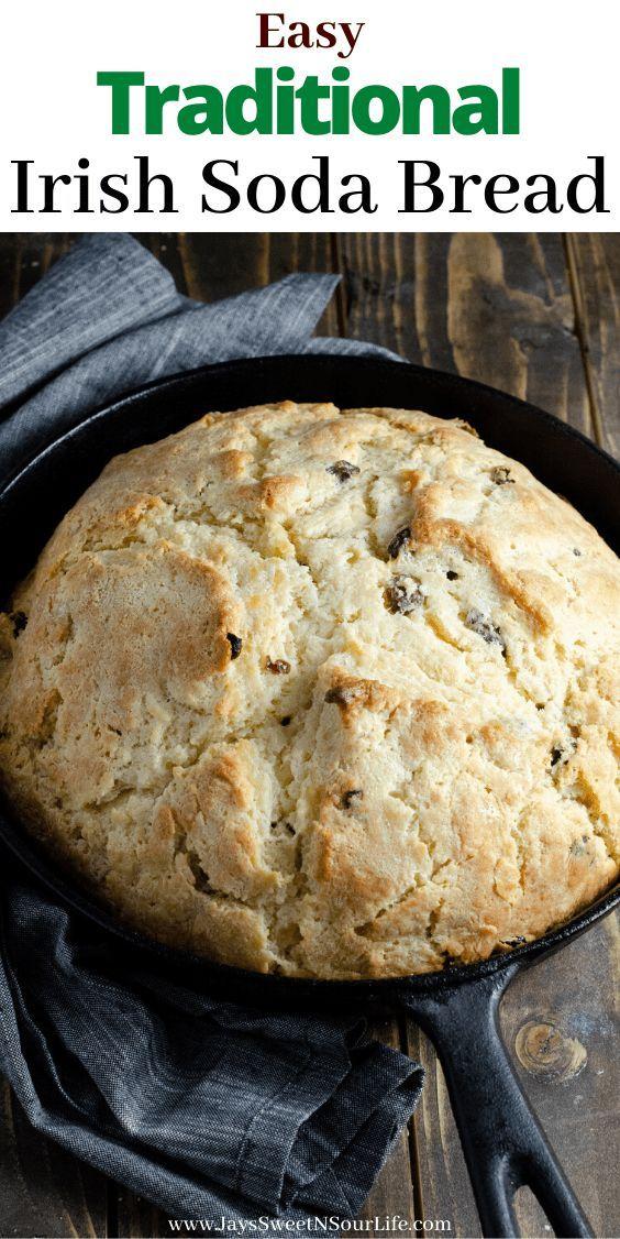 Irish Soda Bread With Raisins Irish Soda Bread In 2020 Traditional Irish Soda Bread Easy Soda Bread Recipe Irish Soda Bread Recipe