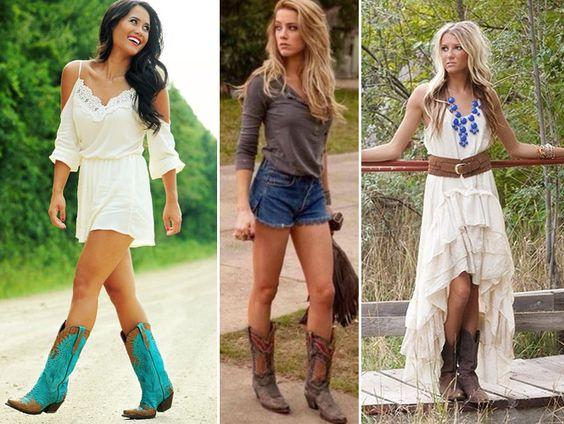 Veja como usar e como combinar as botas femininas texanas. Fotos com inspirações de looks incríveis!: