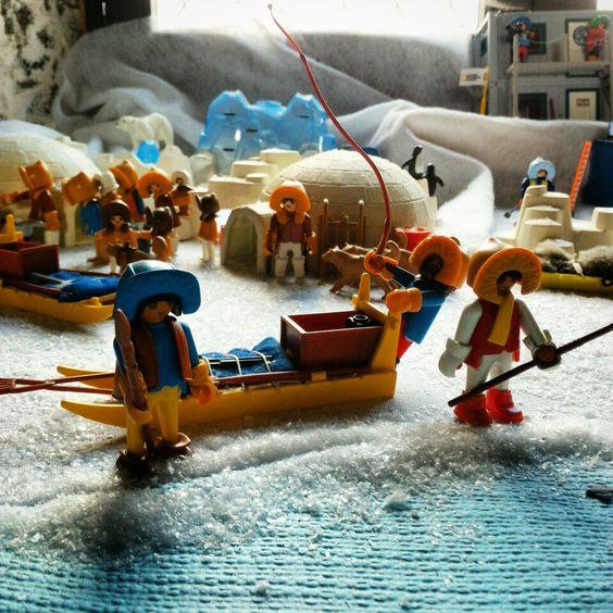 diorama polaire en playmobil - dominique bethune - organisateur exposition playmobil