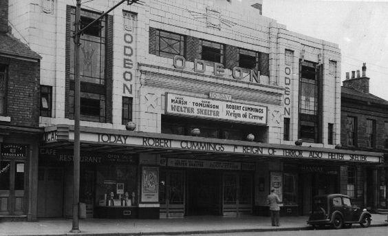 Odeon Cinema Darlington North East England In Old Photo