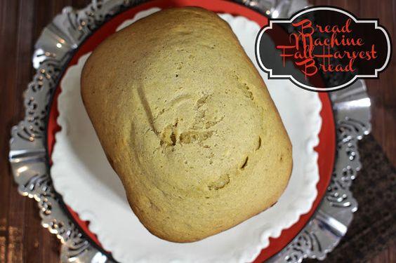 Fall Harvest Bread Recipe made it Bread Maker (Made with Pumpkin, Squash and Zucchini) #breadmaker #fall #recipes