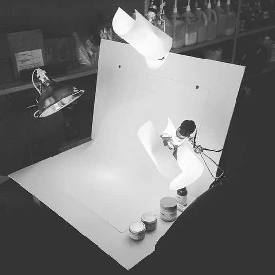 "When you are a ""from scratch"" kinda girl, you make your own light studio. Still working out the kinks"