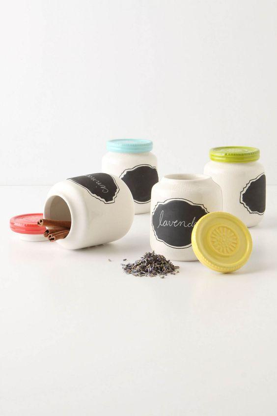 Chalkboard Spice Jars $10 each, Anthropologie