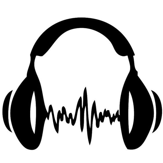 Headphones Car Decal   Laptop Decal   Wall by Acherryortwo on Etsy, $4.99
