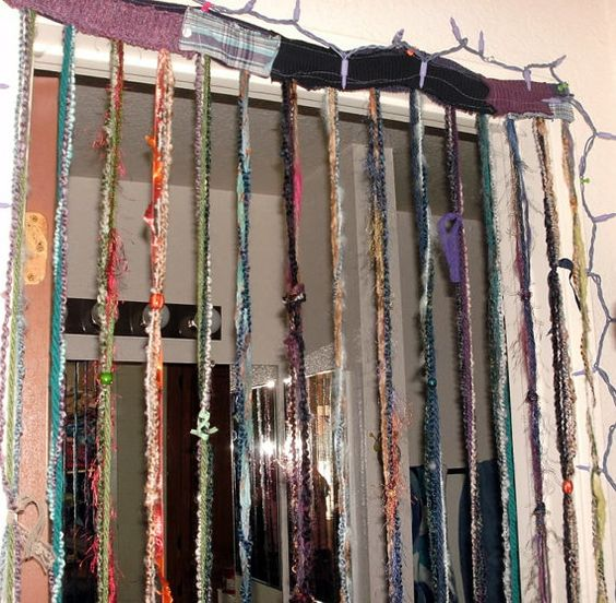 Hippie Gypsy Hanging Beaded Curtain Room Divider By