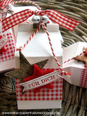 Sonntag, 9. Dezember 2012 Kleinigkeiten hübsch verpackt milk carton