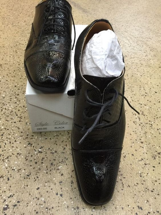 Amali New Men's Oxford Dress Shoes Black 2065-000 with Design US Sizes See Photo #Amali #Oxfords