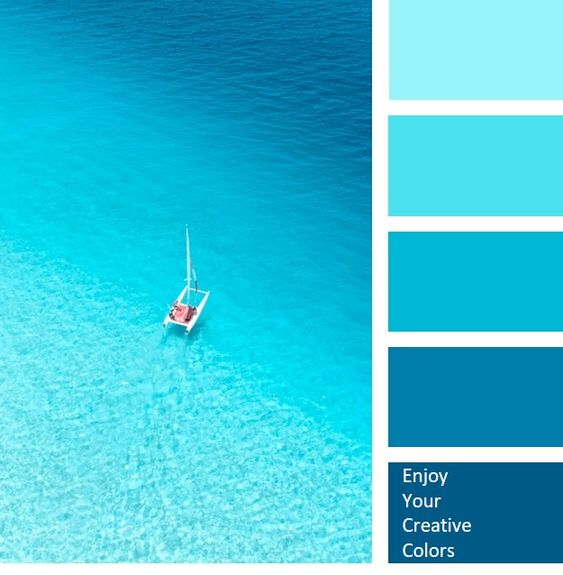 AQUA SHADES, BLUE COLOR PALETTES, BLUE SEA, COLD COLORS, COLOR OF OCEAN, COLOR OF SEA, COLOR OF SEA WATER, MIDNIGHT BLUE, SATURATED CYAN, SATURATED TONES., SHADES OF BLUE