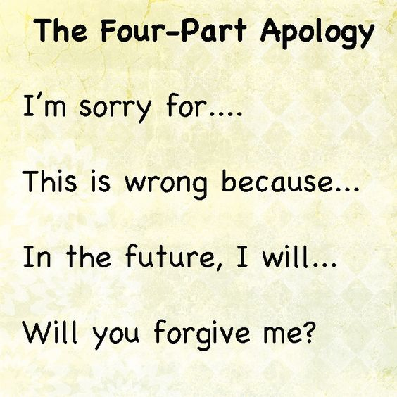 Wr Part My Son Quotes: The Four Part Apology; How To Help Your Kids Learn To