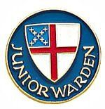 "B-91 Episcopal Shield Junior Warden 1 Religious Pin by Terra Sancta Guild. $4.75. The 1"" Episcopal Church Junior Warden lapel pin has vibrant color enamel inlay with gold trim."