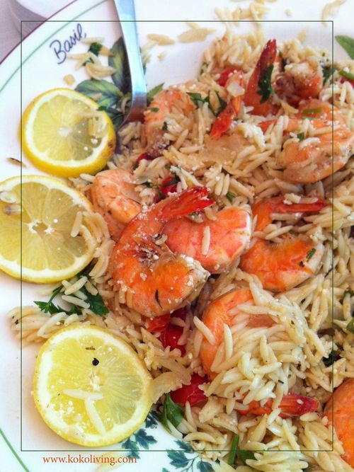 Shrimp & Orzo in a Skillet | recipe from KOKO Living