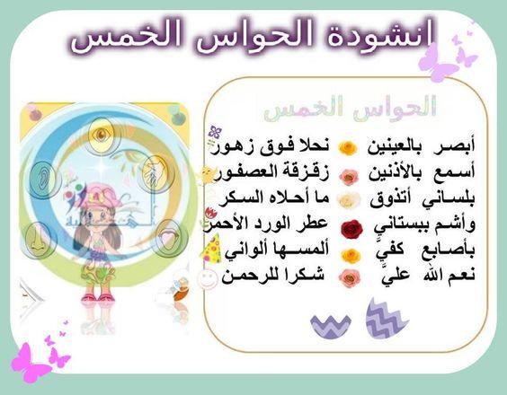 انشودة الحواس Learning Arabic Islamic Kids Activities Kindergarten Classroom Design