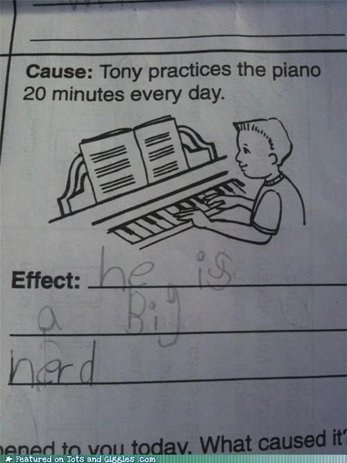 LOL, this seriously made me crack up, hahaha! The answer I don't really mean or think about that with piano