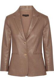 The Row - Nolbon bonded stretch-leather blazer