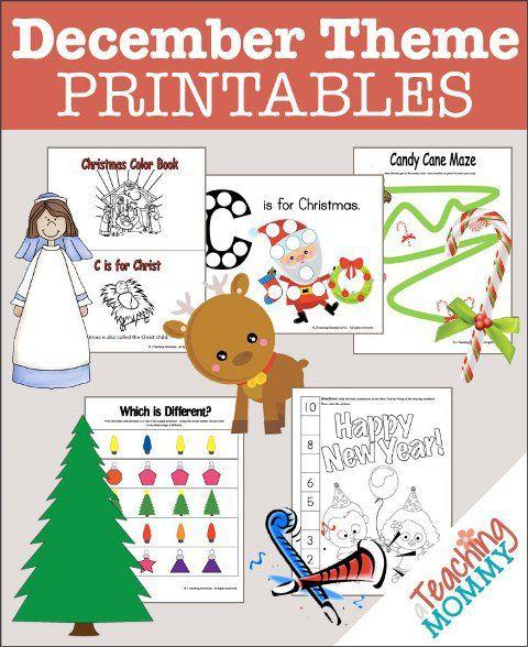free 35 december themed preschool printables preschool printables candy canes and preschool. Black Bedroom Furniture Sets. Home Design Ideas