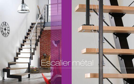 Escalier quart tournant m tal personnalisable les escaliers droits et qua - Escalier quart tournant lapeyre ...