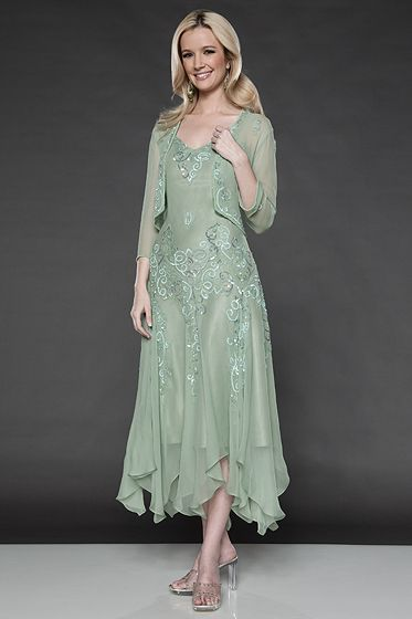 mother of bride dresses tea length - Scala 25360 Tea Length Mother ...