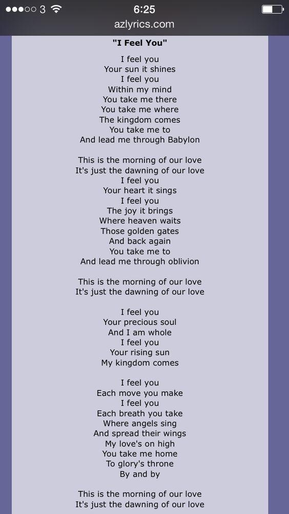 Depeche Mode I Feel You Lyrics DEPECHE MODE LOVIN THEM SINCE THE