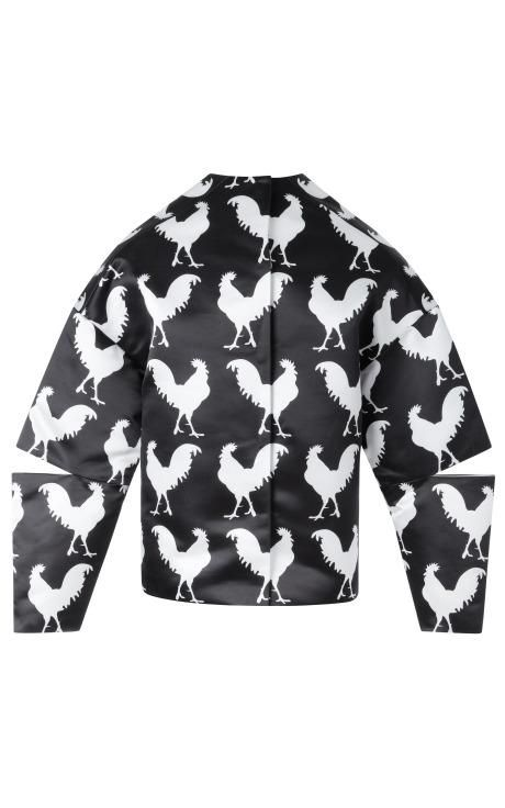 Long Sleeve Rooster Top With Split Elbows by A.W.A.K.E for Preorder on Moda Operandi
