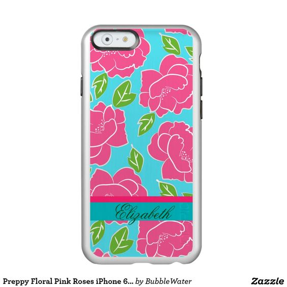 Preppy Floral Pink Roses iPhone 6 Case Incipio Feather® Shine iPhone 6 Case