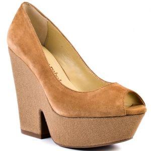 SALE - Womens Luxury Rebel Razo Platform Heels Tan Leather - Was $129.99 - SAVE $13.00. BUY Now - ONLY $116.99.