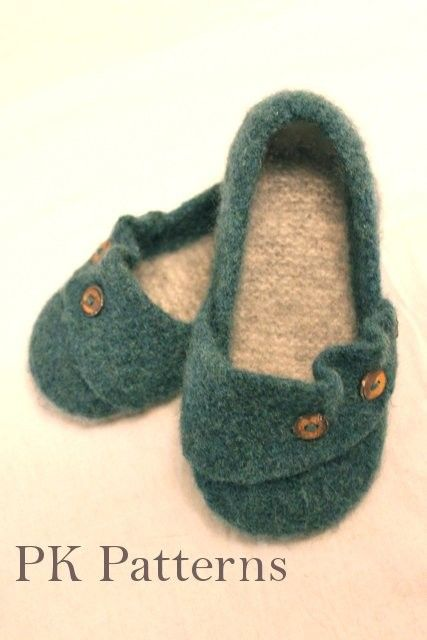 INSTANT DOWNLOAD Knitting PATTERN (pdf file) - Ruffled Flats Slippers / Mary-Jane Shoes U.S./Can. Women's shoe size 6-9