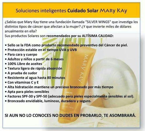 Recomendaciones para usar la crema solar. www.marykay.es/susanadelgado
