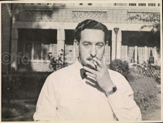Vintage Photo Man Smoking Cigarette Man With by foundphotogallery