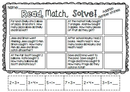 Addition Word Problem Puzzles and Worksheet Bundle | Pinterest ...