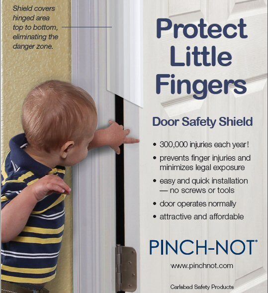 For families with young children our door safety shields cover the gap between door and  sc 1 st  Pinterest & Pinch-Not Door Finger Hinge-side Safety Guard Shield Protector ... pezcame.com