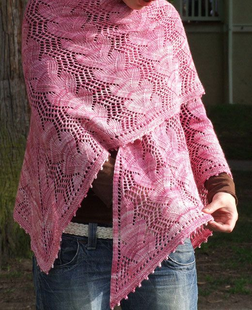 Waves in the Square Shawl, by Sivia Harding