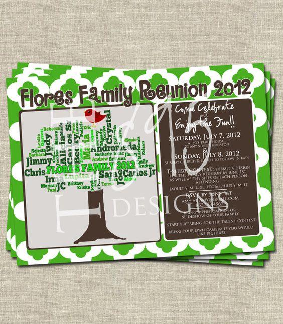 family reunion invitations 10724 19 lovely family gathering