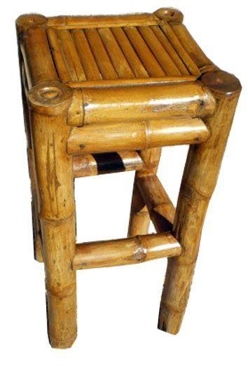 mobilier en bambou tabouret de bar en bambou sans dossier bambous pinterest bar. Black Bedroom Furniture Sets. Home Design Ideas
