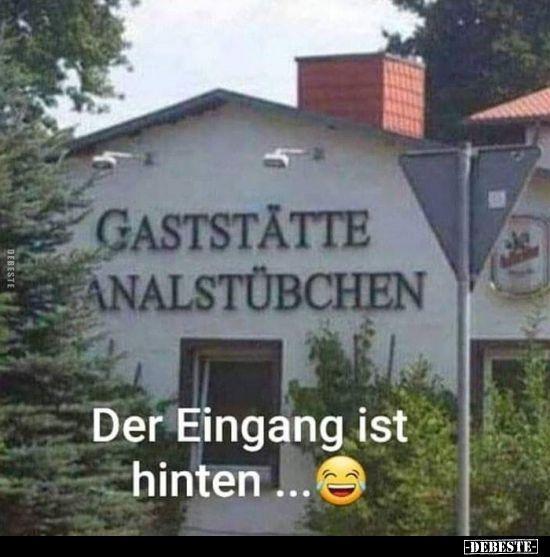 Der Eingang Ist Hinten Deutsche Witze Humor Lustig Witzige