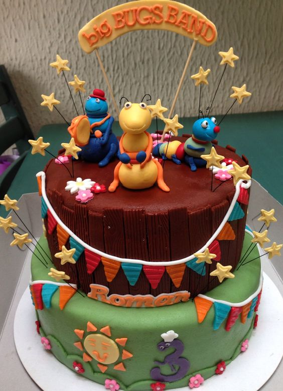 Big bugs band cake | Cake's by me | Pinterest | Band and Cakes