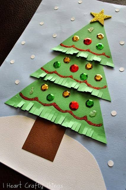 Christmas Tree Crafts for Kids - Pinterest Árboles de navidad