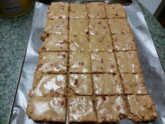 Peanut butter maple bacon blondies