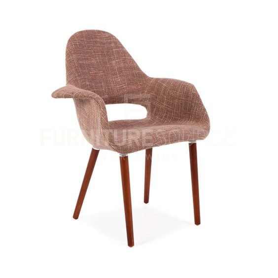 Eames & Saarinen Style Mid Century Modern Organic Lounge / Dining Chair - Beige #FSW #MidCenturyModern