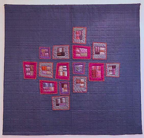 "Crossroads ""15"" by Sue Mary Fox. 2015 Stitch Modern exhibit. Photo by The Plaid Portico."
