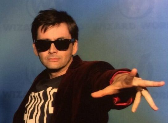 Tennant Cosplaying as Capaldi. BOOM! I'm done.... completely DONE! Now we want them all to do this.