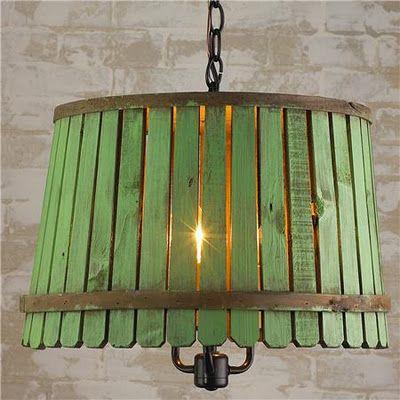 bushel basket lamp - 3 colors - love all