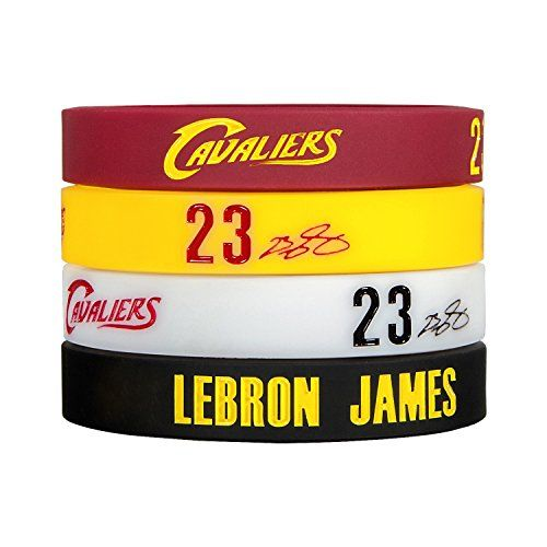 Silicone Wristband Bracelet NBA, LeBron James, more NBA S…