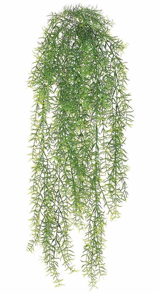 Plastic Asparagus Sprengeri Indoor Outdoor Hanging Bush 30 Long Hanging Plants Artificial Flowers Outdoors Artificial Plants Outdoor