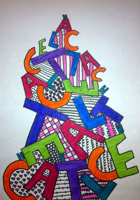 Art Expression Of Imagination Sixth Grade Letter Stack
